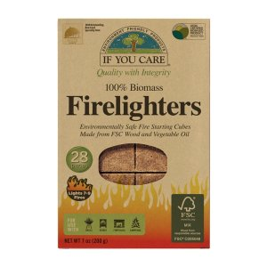 Cuburi non-toxice de aprins focul If You Care   28 buc