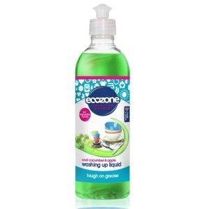 Detergent de vase lichid cu castravete răcoritor & măr Ecozone 500 ml