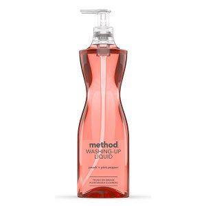 Detergent de vase lichid cu piersică & piper roz Method 532 ml