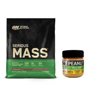 Gainer ON Serious Mass 5.4 kg + Unt de arahide fin GO ON 180 g