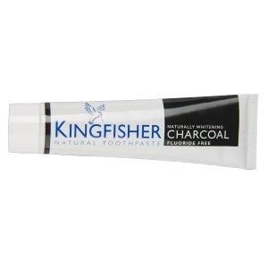 Pastă de dinți cu cărbune activ fără fluor pentru albirea dinților Kingfisher 100 ml