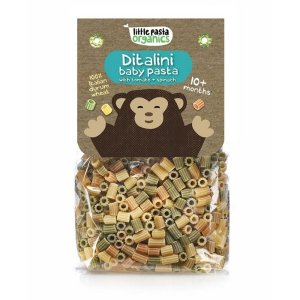 Paste bio pentru bebeluși Little Pasta Organics - Ditalini 250 g