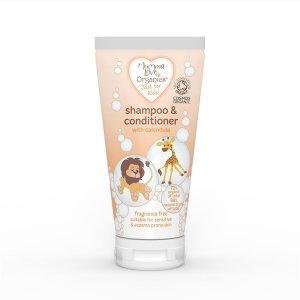 Șampon & balsam de păr cu gălbenele fără parfum pentru copii Mumma Love Organics 200 ml